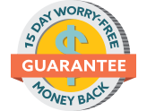 15 Day Money Back Warranty