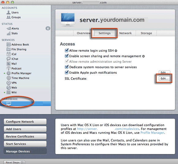 How To Install Ssl Certificate On Os X Lion 107 Server