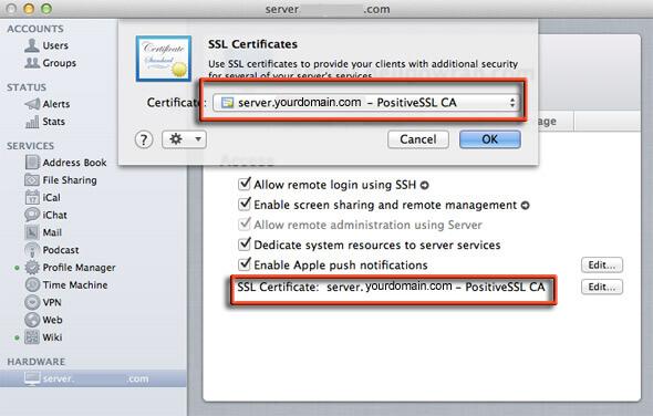 SSL on OS X Lion 10.7 Server