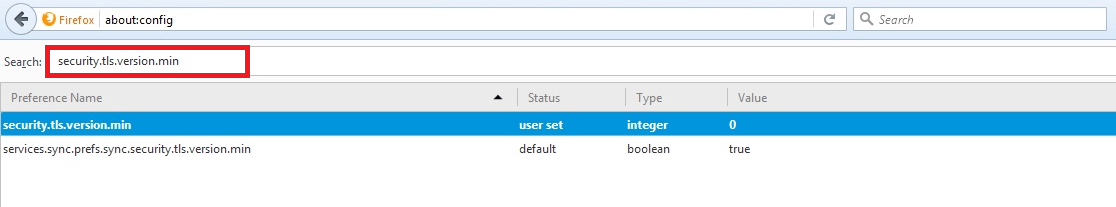 Disable SSLv3 in Firefox
