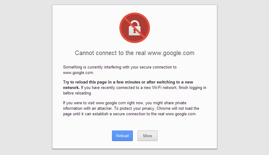 SSL Certificate Error on Google Chrome