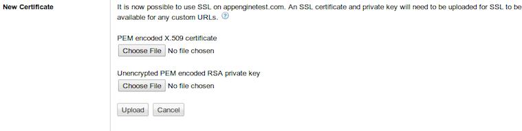 Add SSL Certificate on Google App Engine