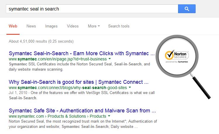 Symantec Seal in Search