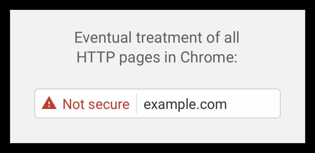 Not Secure Warning Google Chrome