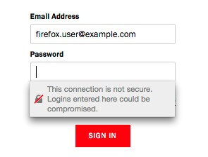 firefox 52 - non secured http