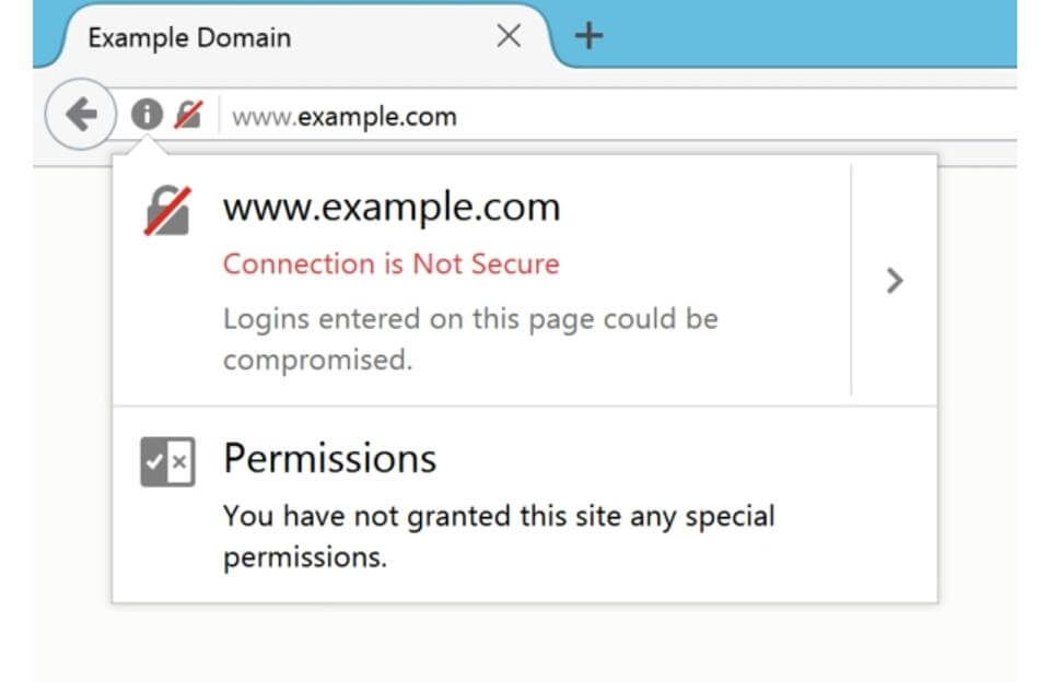 firefox http login warning error