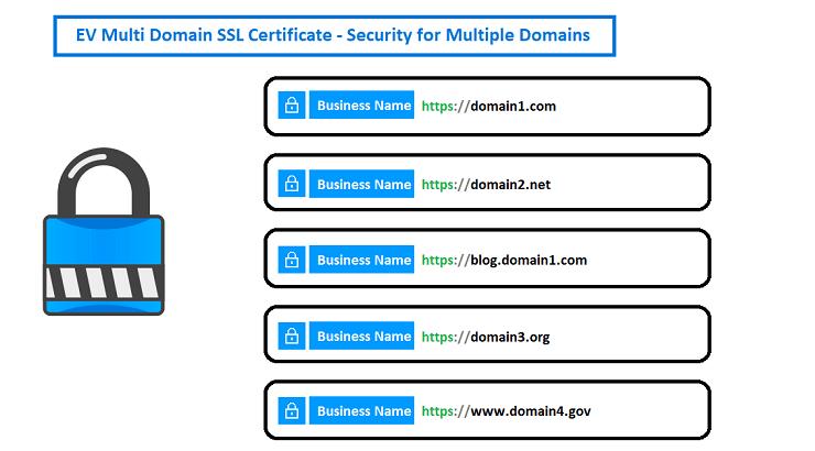 EV Multi Domain SSL Certificates