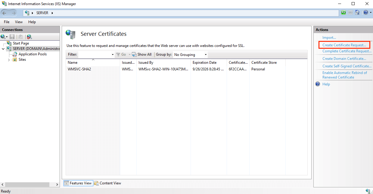 Create CSR and Install SSL on Microsoft Server 2016 with IIS