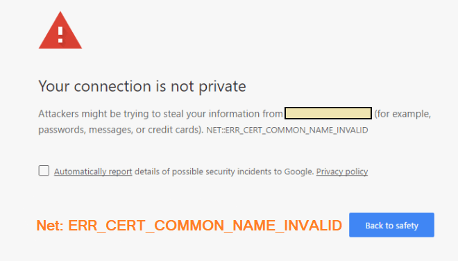 Your Connection is not Private Error - Fix it on Anroid and