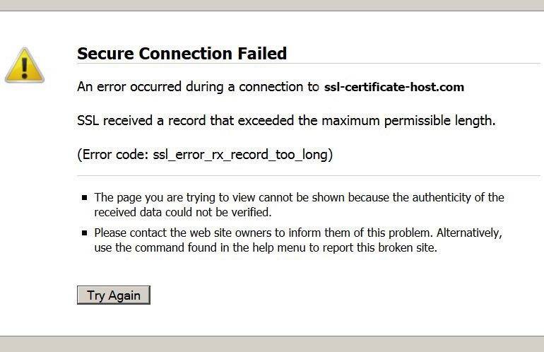 SSL_Error_rx_record_too_long - The Trouble Shooting Guide