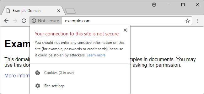 SSL Certificate Warning