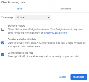 How to Clear Browsing in Google Chrome