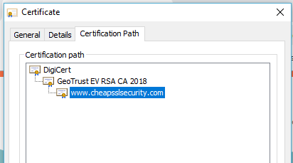 Root Certificate Structure