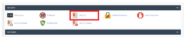 SSL Security Settings in cPanel