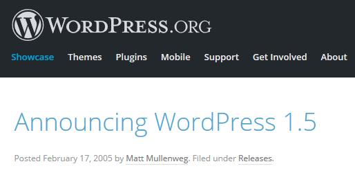 WordPress Version Data