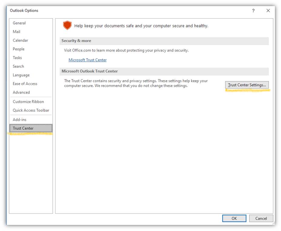 The third step of how to encrypt an email in Outlook