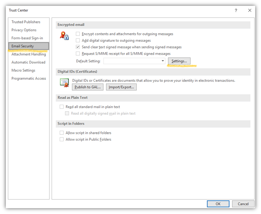 The fourth step of how Outlook email encryption works