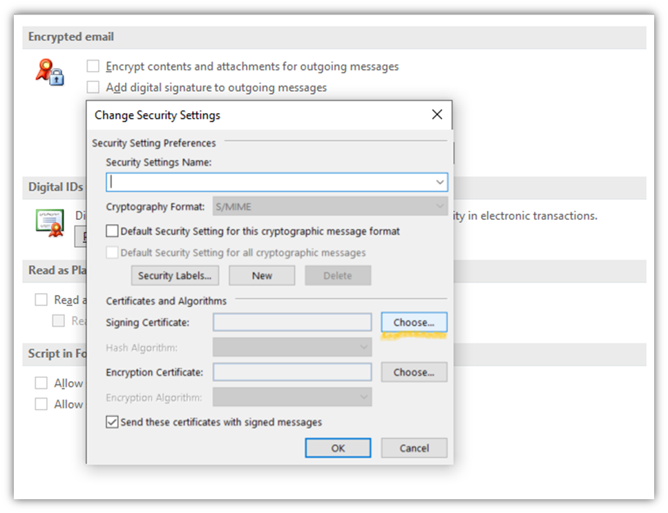The fifth step of how to encrypt email in Outlook