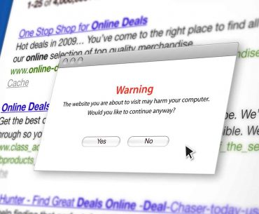 malicious URL feature image is a warning screen about a dangerous website