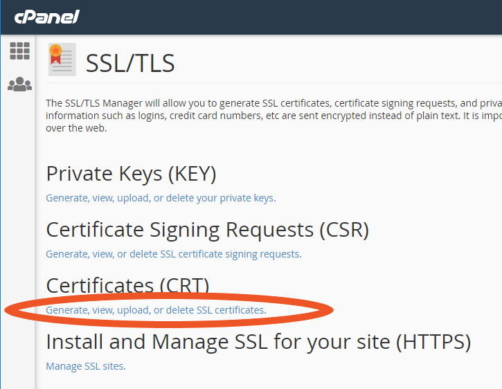 Graphic: Install BlueHost SSL Certificate