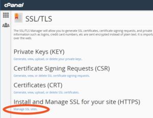 Manage SSLs