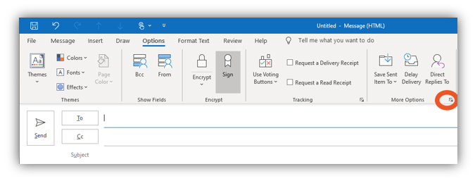Graphic: Email encryption in Outlook