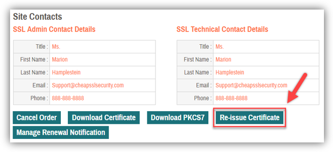 Graphic: Reissue SSL certificate process step 4