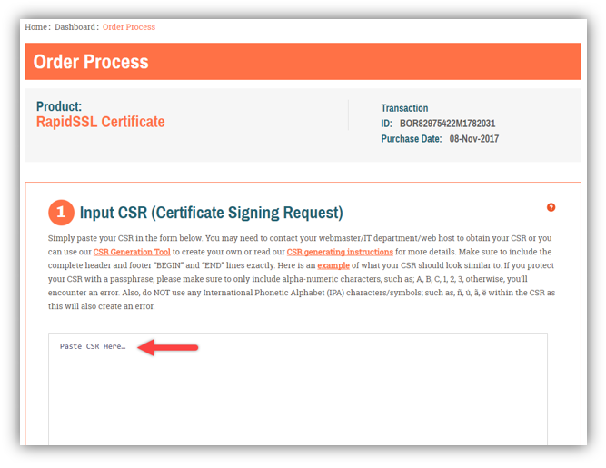 Graphic: Reissue SSL certificate process step 5