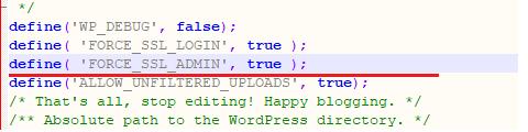 define force ssl admin code