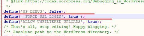 define force ssl login code