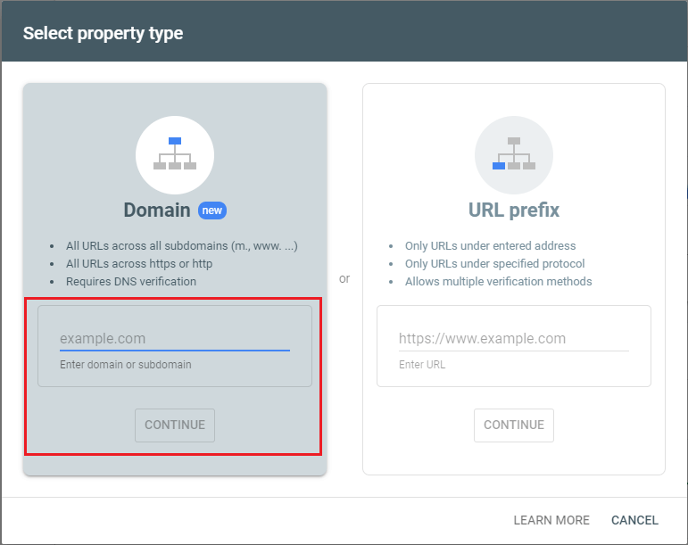 select property type