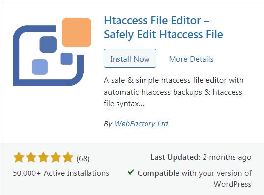 wp htaccess file editor plugin