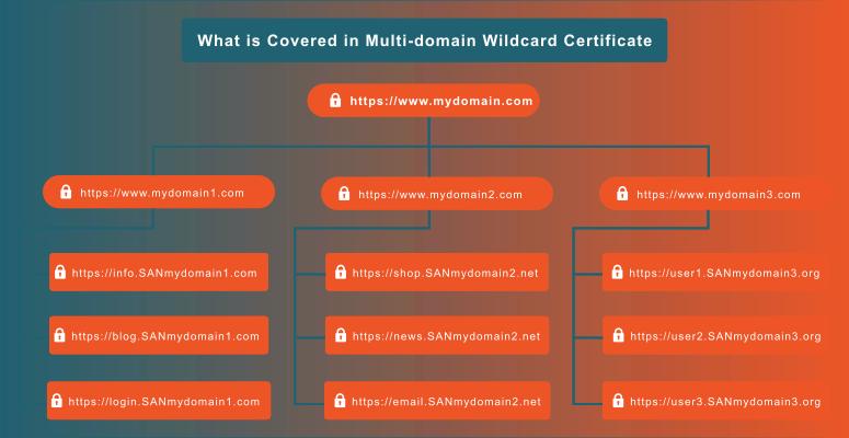 multi domain wildcard ssl covers